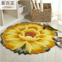 90CM Diameter 3D Sunflower Carpets For Living Room Soft Children Play Mat Rugs And Carpets Floor Mat/Doormat Bedroom Area Rug