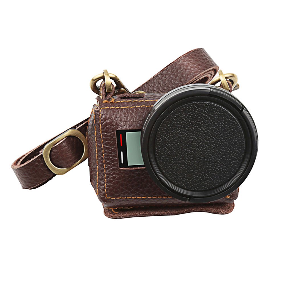 Etui de protection clipsable en cuir pour GoPro Hero 7 6 5 caméra d'action avec filtre UV 52mm couvercle d'objectif pour Go Pro 6 7 accessoire