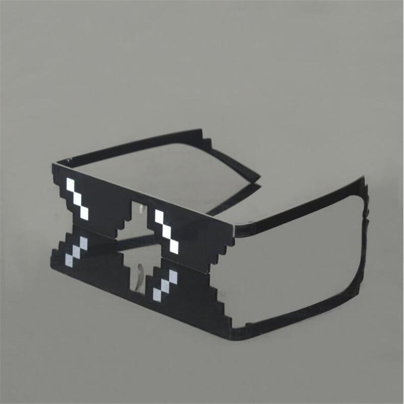HTB1632pXOIRMeJjy0Fbq6znqXXaq - 2018 New Deal with it Glasses Thug Life Glasses Pixel Women Men Sunglasses Black Mosaic Sun Glasses