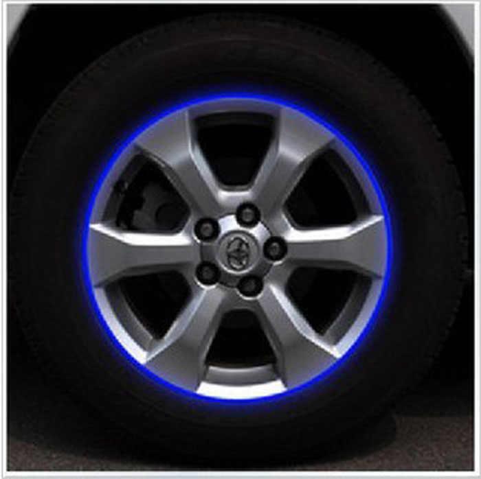 """16 шт. полосы Мотоцикл Наклейка для колес 17 """"18"""" отражающие наклейки ободная лента велосипед Автомобиль Стайлинг для YAMAHA HONDA Harley BMW оптовая продажа"""