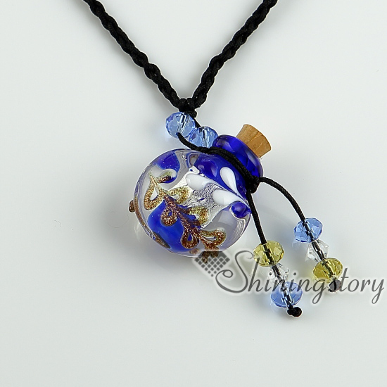 Essential oil diffuser necklaces empty small glass vial necklace essential oil diffuser necklaces empty small glass vial necklace pendants wholesale supplier italian murano glass jewelry in pendants from jewelry aloadofball Image collections