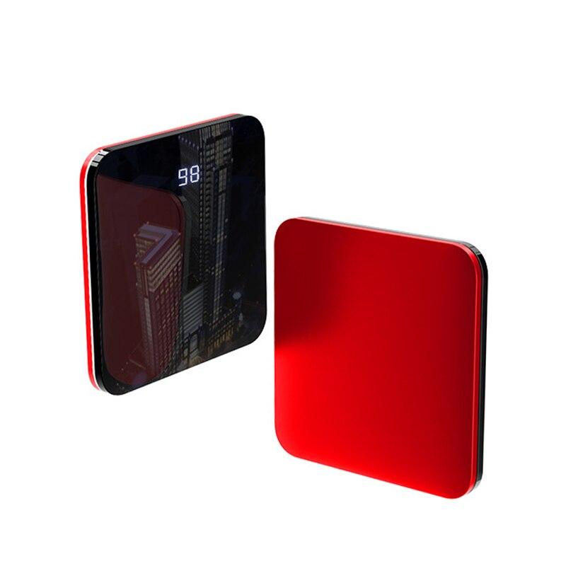 8000mah Super Slim Power Bank Mini Mirror Screen Fast Charging Portable Mobile Phone Charger Powerbank for iPhone Xiaomi Huawei