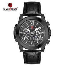 KADEMAN Luxury Men Wristwatches Fashion Business Leather Quartz Watch 2019TOP Brand New Automatic Date Watches Relogio Masculino