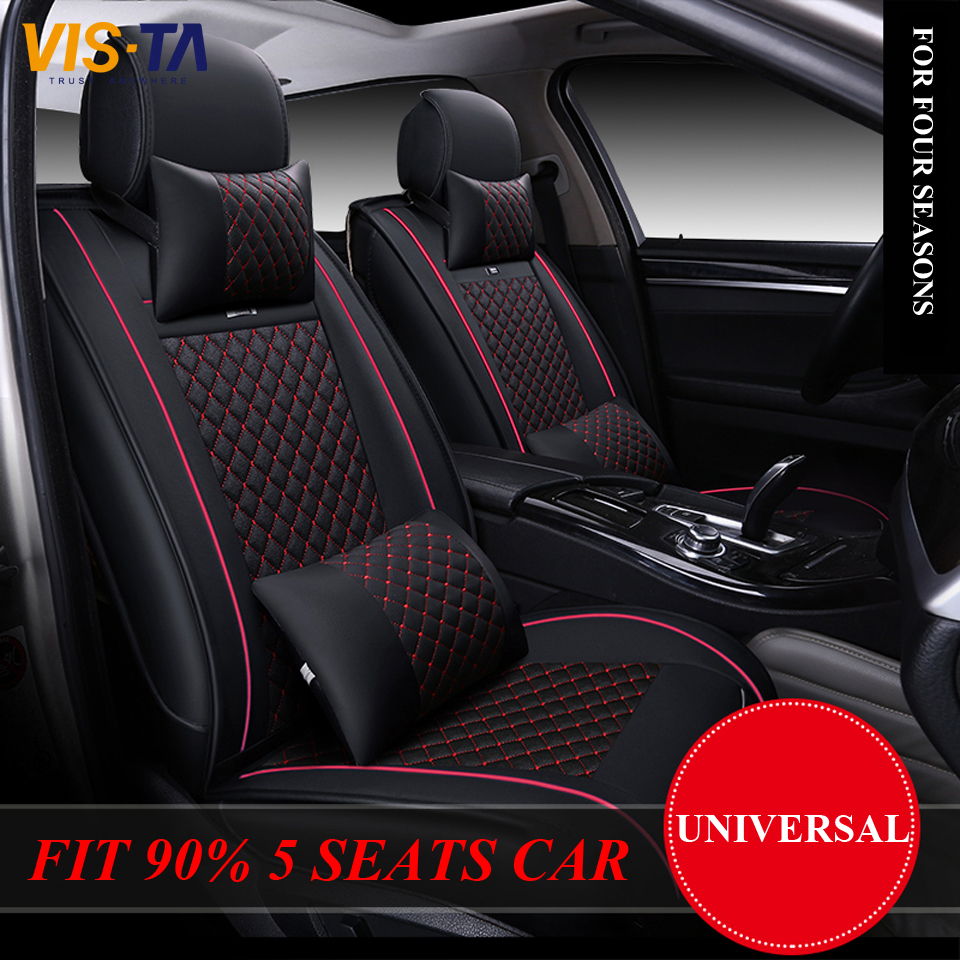 automotive covers special gray red car blue leather for bmw models product seat all black accessories