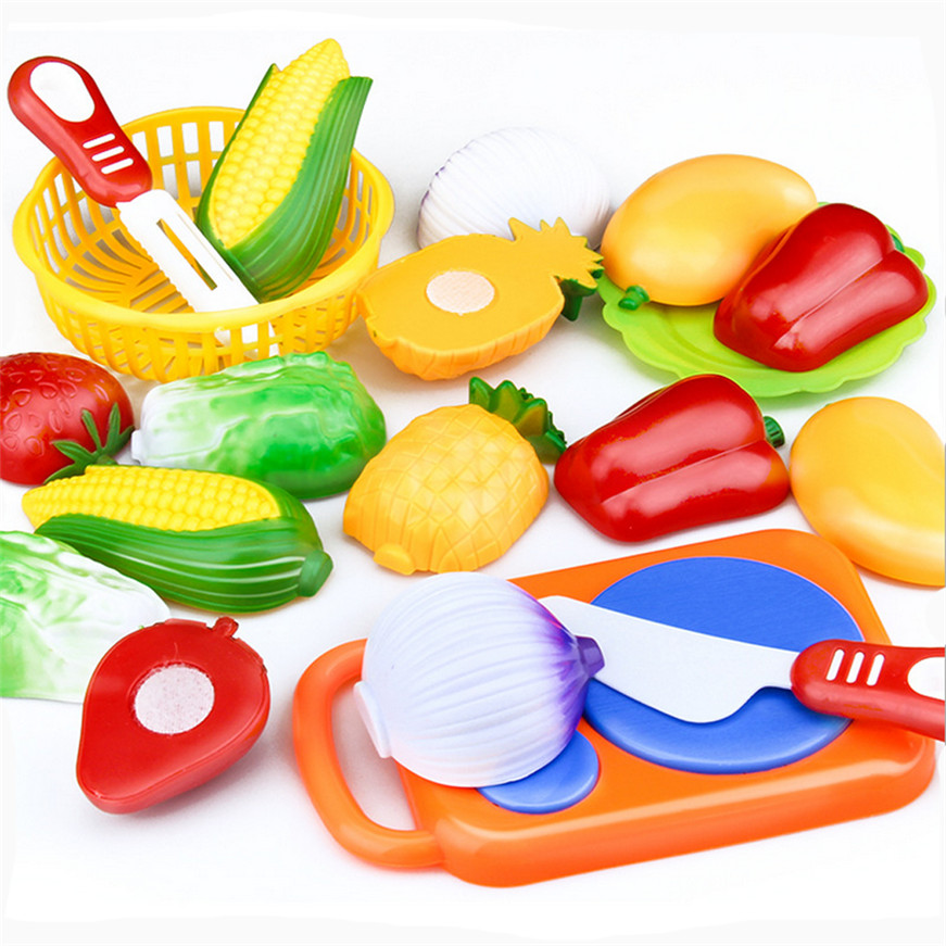 2017 A# Dropshipping 12pc Cutting Fruit Vegetable Pretend Play Children Kid Educational Toy #3