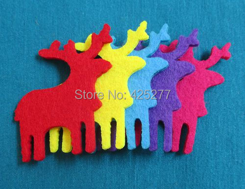 Free shipping 50mm*40mm 5 color optional felt applique non woven