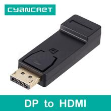Video Cable Convert Displayport DP to HDMI Port Connector Male-Female Adapter for Computer HDTV Monitor Projector Support 1080P