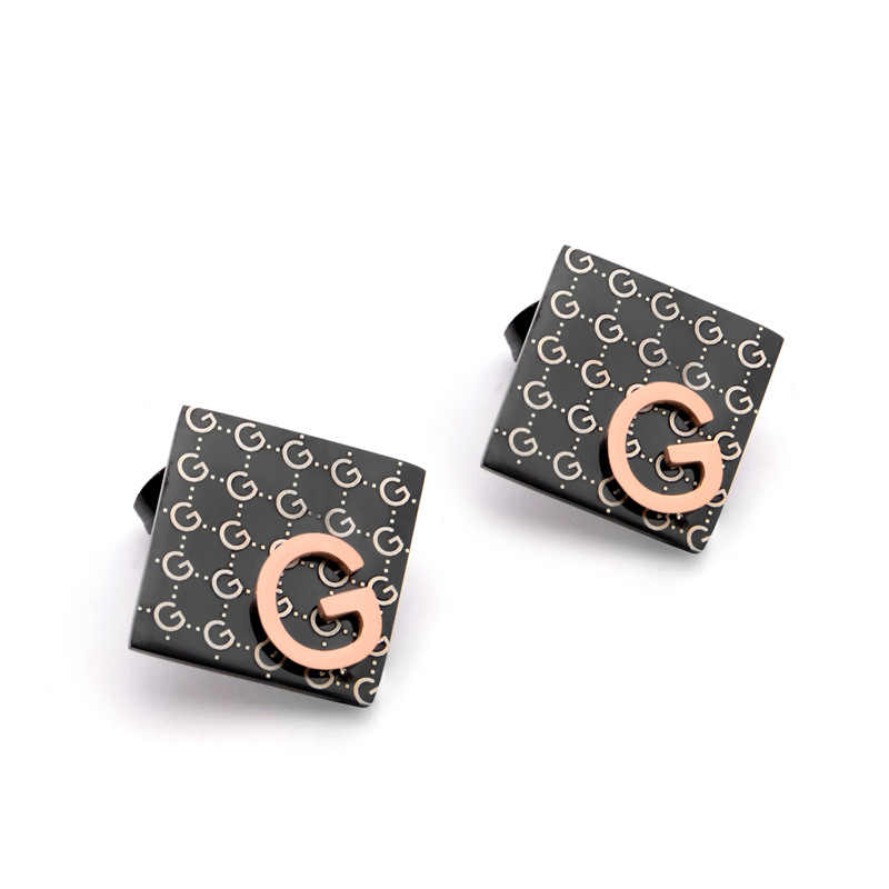 New brand G letter earrings women fashion rose gold earrings titanium steel hypoallergenic wedding birthday jewelry BrincosS022