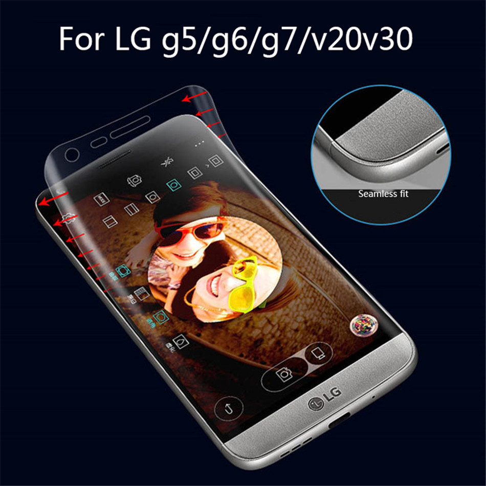 Hydrogel Film For LG V30 3D Screen Protector Protective Film For LG V20 G5 G6 G7   (2)
