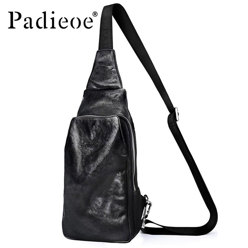 Сумка мессенджер Padieoe из натуральной коровьей кожи, Повседневная сумка через плечо, 2017
