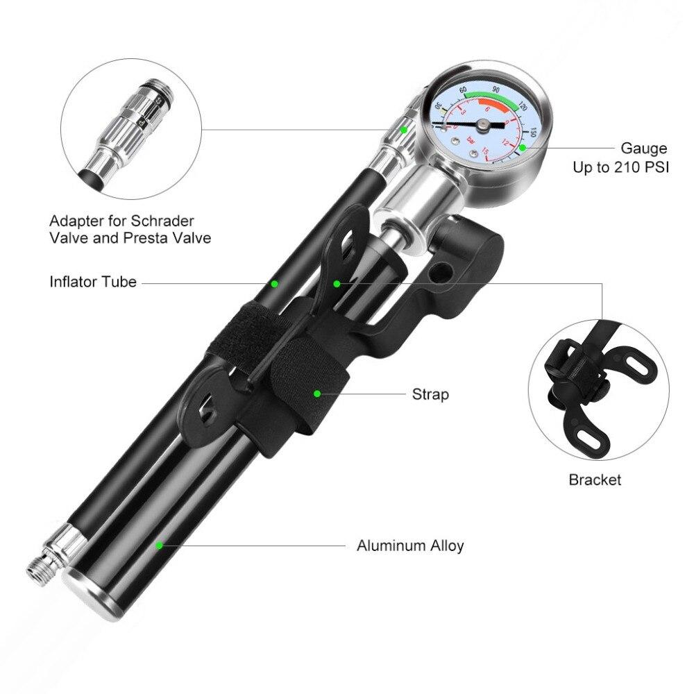 Портативный насос высокого давления велосипедный насос горный велосипед велосипедный насос шланг с манометром велосипедный переходник