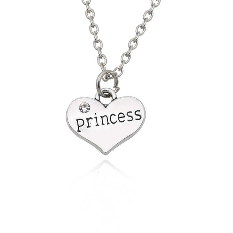 ... Best Friends Daddy Princess Baby Girl Flower Girl Charm Pendant  Necklace Silver Rhinestone Love Heart Necklace ... b7ba27fe7e4d