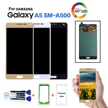 AMOLED For Samsung Galaxy A5 SM-A500F LCD Display Screen replacement for Samsung SM-A500FU A500G A5000 A5009 display lcd module(China)