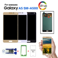 AMOLED For Samsung Galaxy A5 SM A500F LCD Display Screen replacement for Samsung SM A500FU A500G A5000 A5009 display lcd module