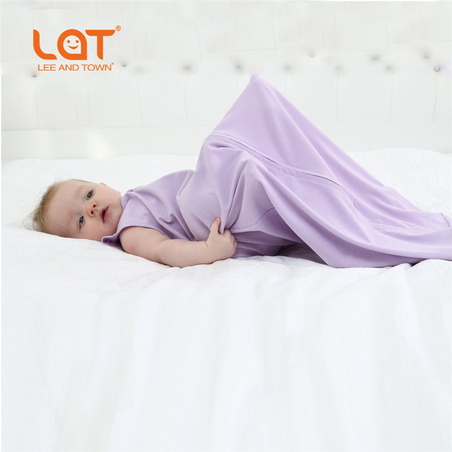 LAT 100% Cotton Baby Sleeping Wear Newborn Baby Sleeping Bag Stroller Prams Bed Swaddle Blanket Wrap Bedding Cute Sleepsack
