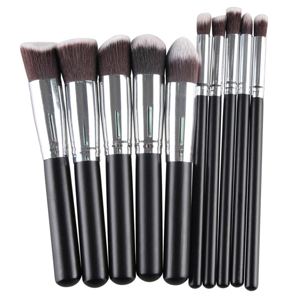 MAANGE Pro 10 Pcs Makeup Brushes Set Foundation Blending Blush Eye shadow Contour Women Beauty Make Up Maquiagem Cosmetic tools