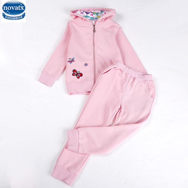 novatx FB5612 retail Children Clothing Girls Set KidsGirls Clothing Winter casual Suits  ...