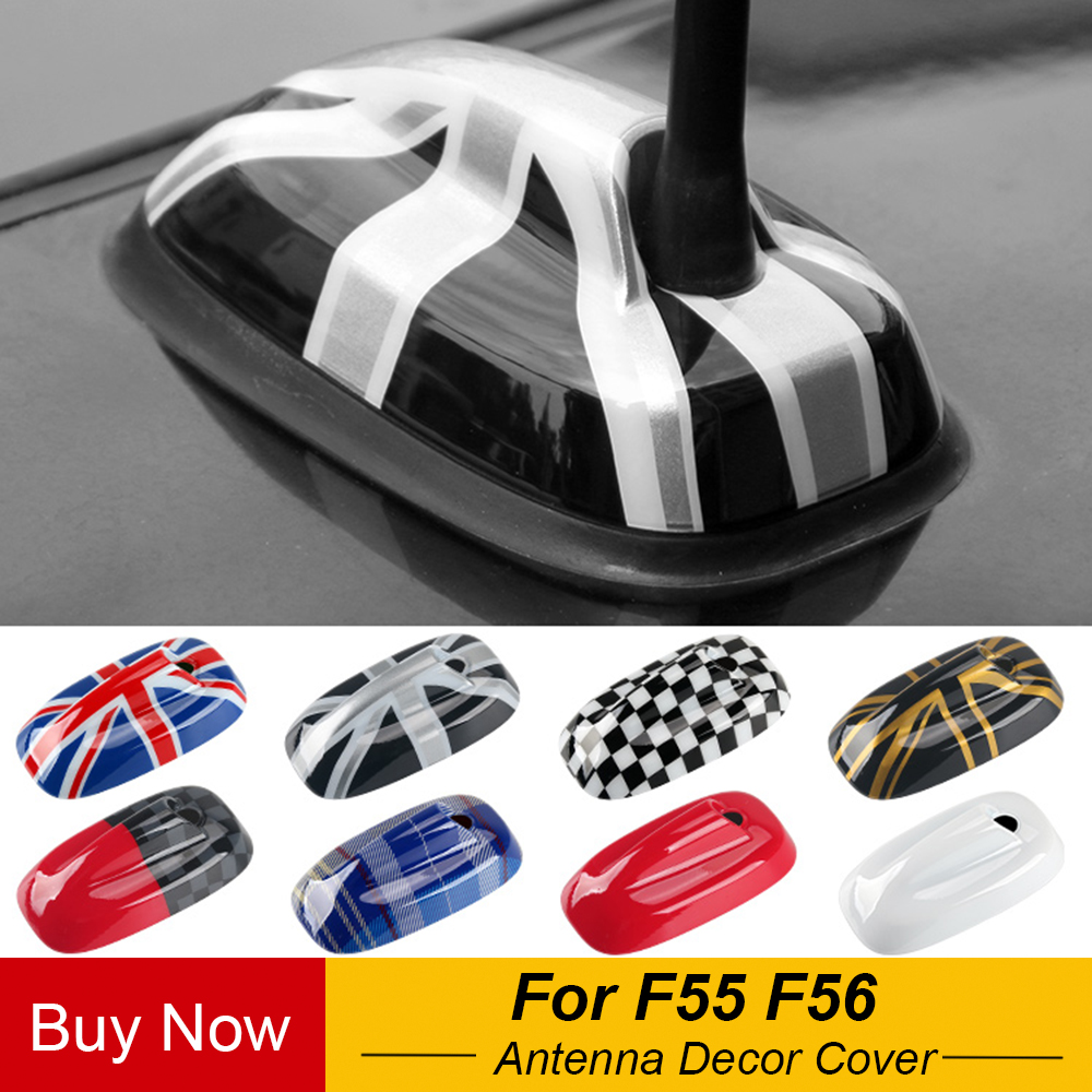 Car Union Jack Antenna Aerial ABS Base Decoration Case Cover Housing Sticker For Mini Cooper F55 F56 Car Styling Accessories