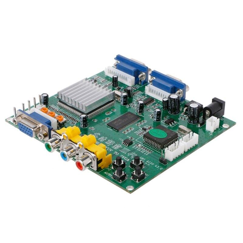 Аркадная игра RGB/CGA/EGA/YUV К двойной VGA HD видео конвертер адаптер доска GBS-8220