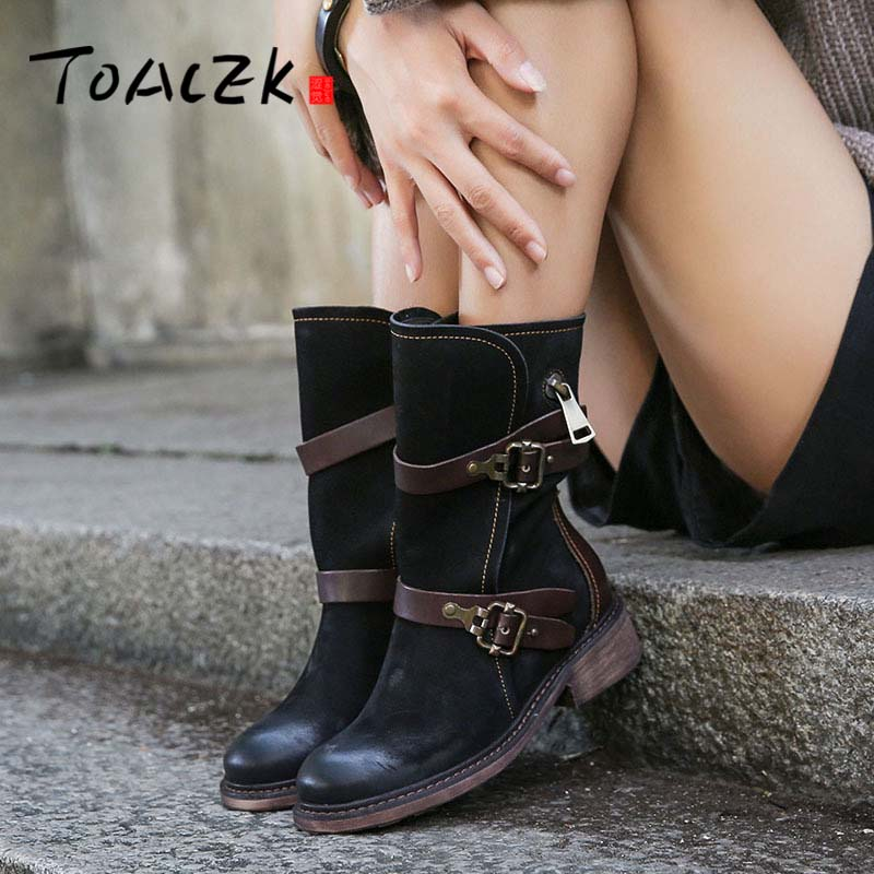 Winter new retro boots leather Europe and America Martin boots belt buckle single boots the original single in europe and america 2014