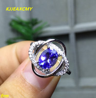 KJJEAXCMY Fine Jewelry 925 Silver Inlaid Colorful Natural Tanzanite Ring Women S Rings Wholesale And Retail