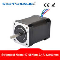 Nema 17 (Национальная ассоциация владельцев электротехнических предприятий) шаговый двигатель 65Ncm (92oz. В) 60 мм 2.1A 4-свинец Nema17 двигатель 42bygh Степ...
