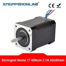 цена на Nema 17 Stepper Motor 65Ncm(92oz.in) 60mm 2.1A 4-lead Nema17 Motor 42BYGH Stepper for 3D Printer CNC XYZ Motor