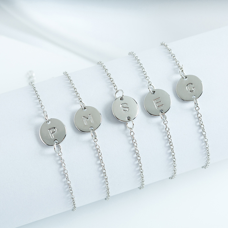 Letters-Bracelets Couple Fashion Jewelry Homme Silver Personality Women for Charm Femme