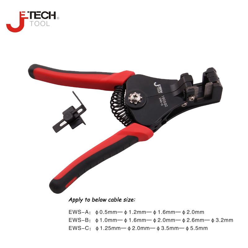 Jetech precise automatic spring wire strippers cable stripping crimping plier cutter tool for 0.5 1.0 1.2 1.25 1.6 2.0 to 5.5mm цены