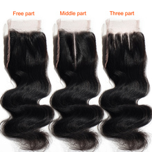 Bleacheds evet knots middle part lace wave body closure virgin brazilian