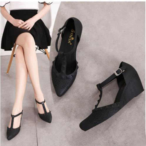 fc6a24133f26 ... 2019 summer new wedge sandals thick bottom jelly shoes pointed rain  shoes Roman beach shoes breathable ...