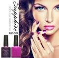 3 unids Nail Art Sapphire Gel polaco ultravioleta 7.3 ML barnices larga duración no irritante olor Soak Off belleza mujeres herramientas