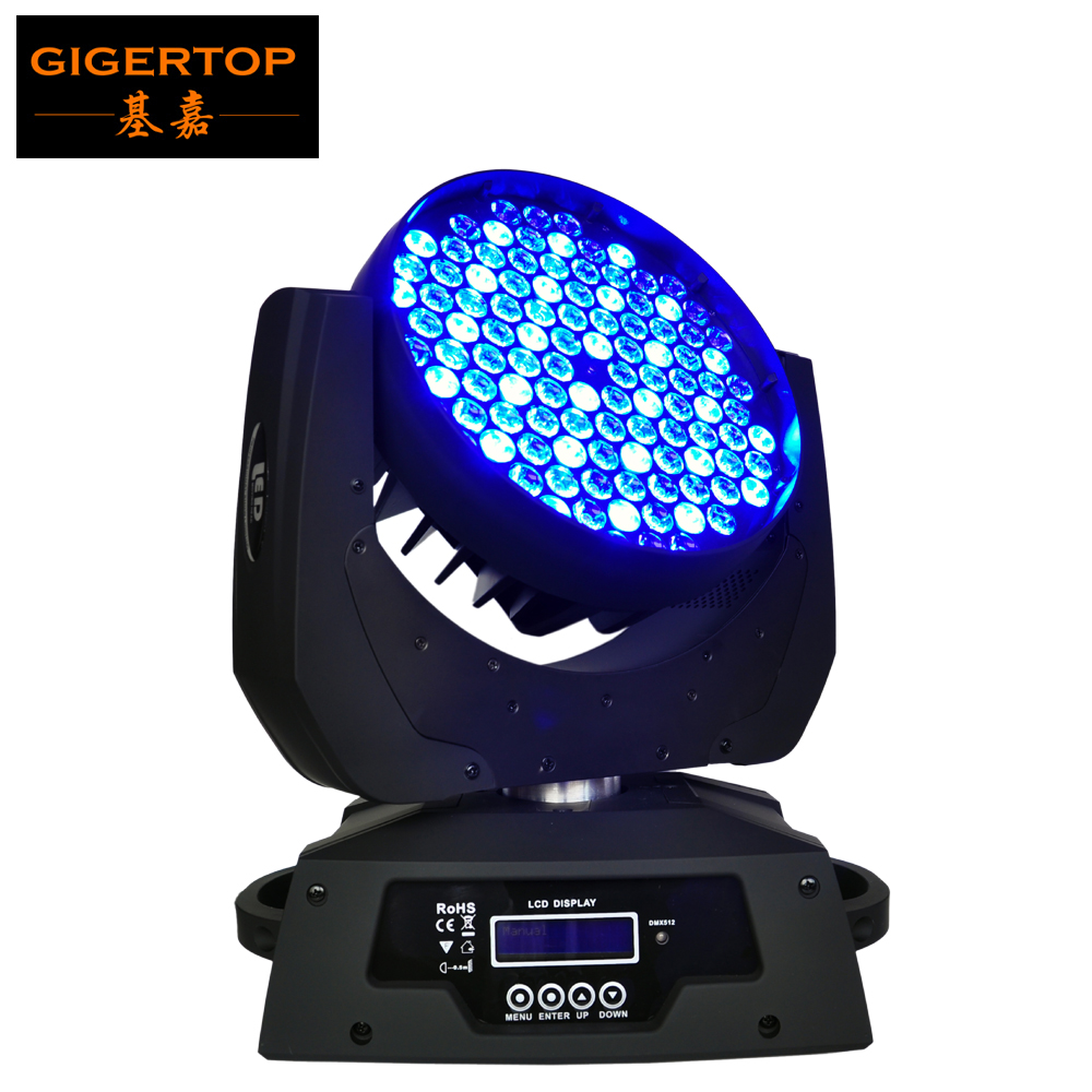 Professional Stage Led Moving Head 108pcs 3W RGBW DJ Led Wash moving head Light Fast Delivery DMX Console Silence Low Noise freeshipping 2xlot 108 3w rgbw wash led moving head light 24 red 28 green 28 blue 28 white edison led 3w free clamp safety wire
