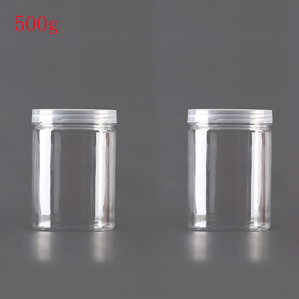 20pcs lot 500g clear Refillable Bottles Travel Face Cream Lotion Cosmetic Container Plastic Empty Makeup clear