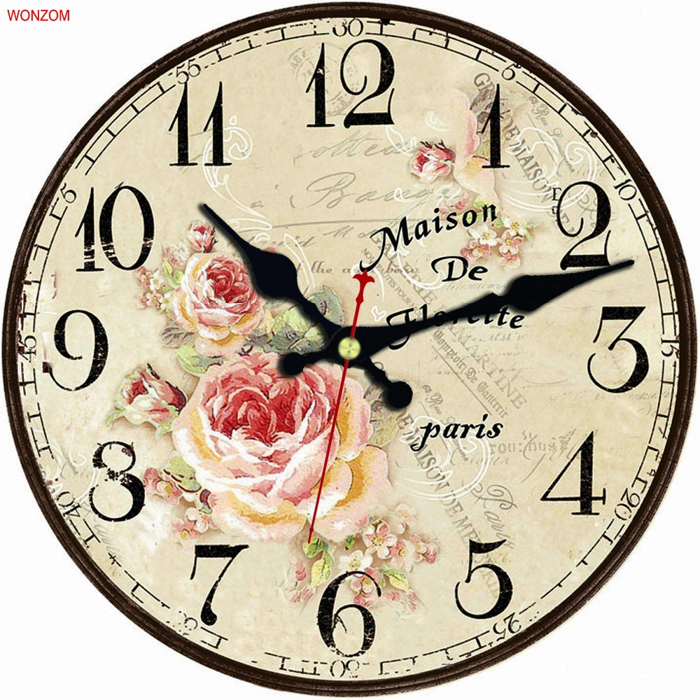 Flower Wall Clock Modern Design Relogio De Parede Large Silent For Living Room Rose Wall Decor Saat Home Decoration Watch Wall