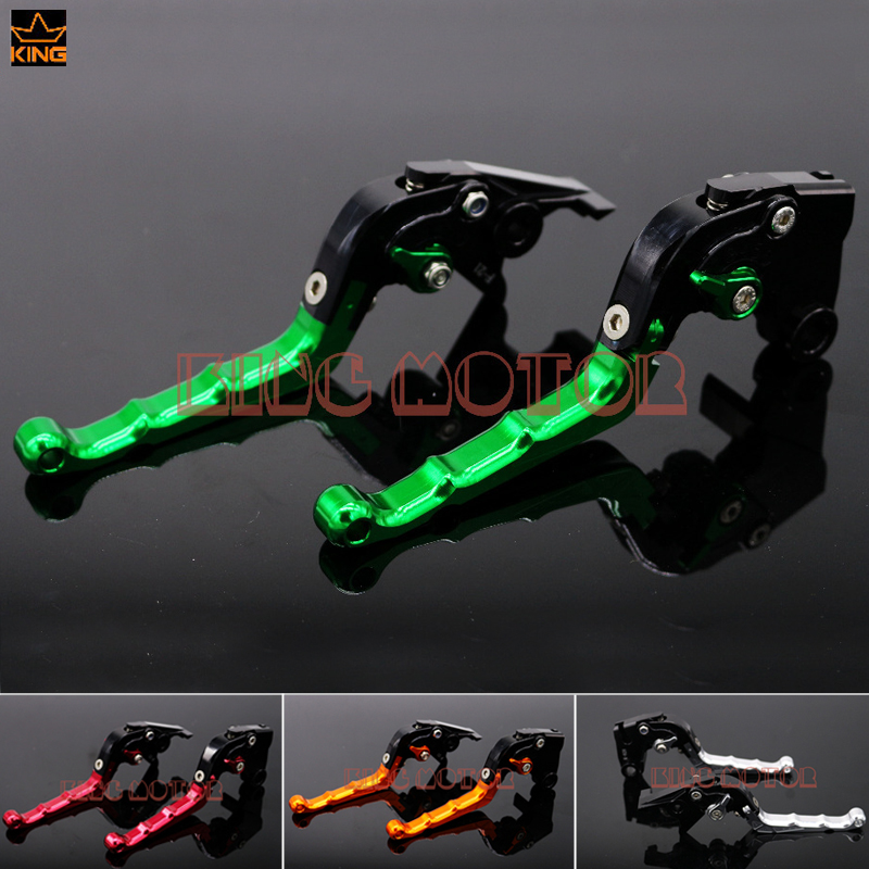 Hot Sale Motorcycle Accessories Adjustable Folding Brake Clutch Levers Green For Kawasaki Z800 2013-2015 billet alu folding adjustable brake clutch levers for motoguzzi griso 850 breva 1100 norge 1200 06 2013 07 08 1200 sport stelvio