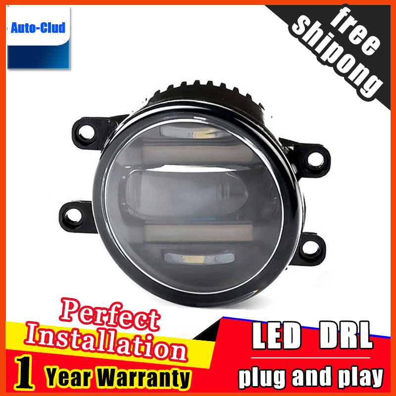 Car-styling LED fog light for Lexus IS 2013-2014 LED Fog lamp with lens and LED daytime running ligh for car 2 function