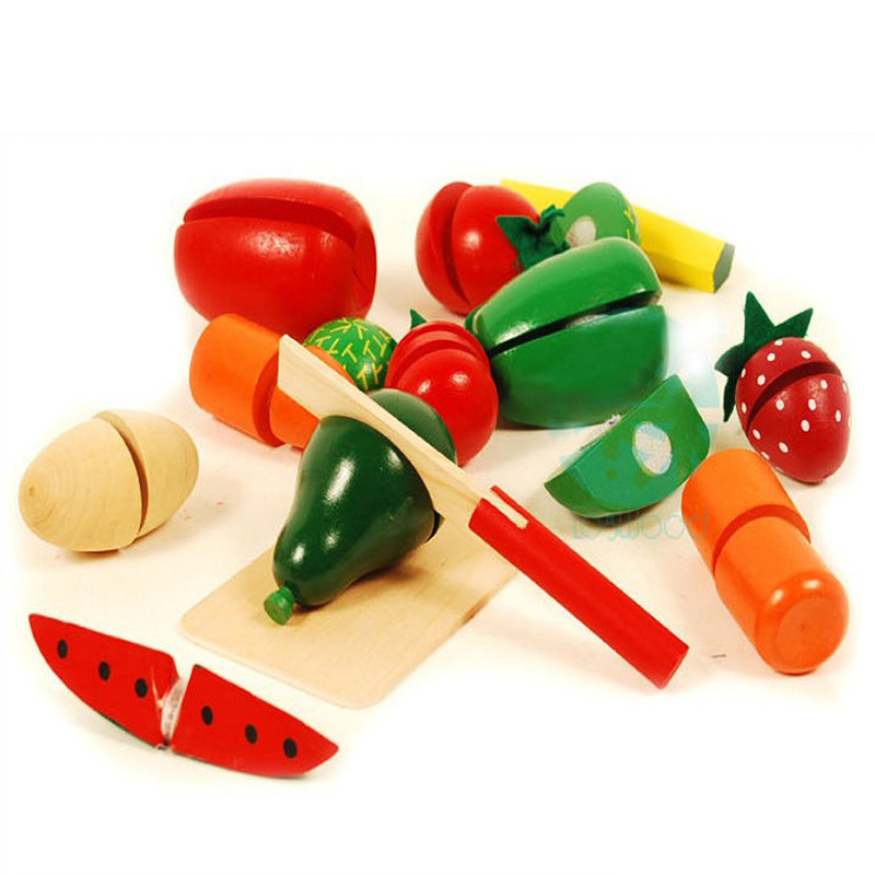 Bambino giocattolo di legno verdure frutta casa giochi per bambini ...