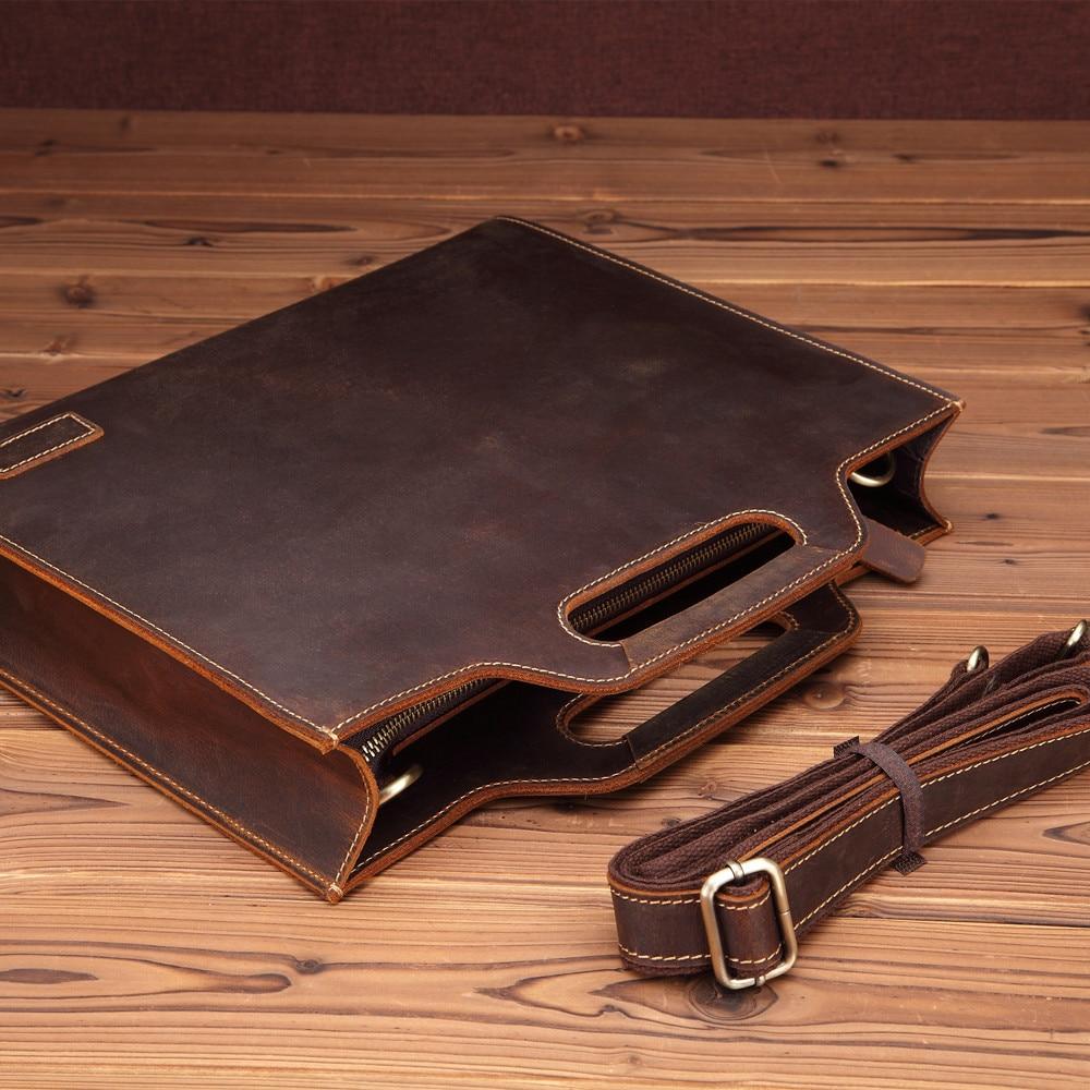 GUMTS Brand Business Men Briefcase Bag Leather 13' Laptop Bag Man Shoulder Bag Bolsa Maleta Men's Messenger Bag