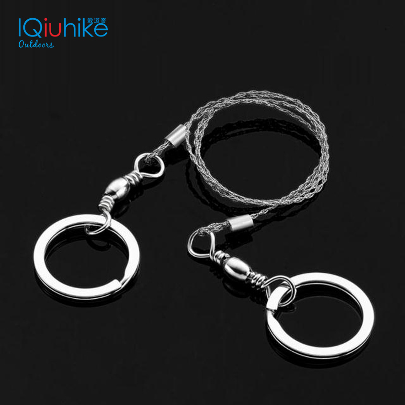 IQiuhike Outdoor Camping Hiking High Quality Stainless Steel Wire Saw Outdoor Practical Camping Emergency Survival Gear Tools