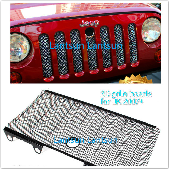 4x4 auto accessories 2007~2015 wrangler jk 3D insect nets mesh grille black steel