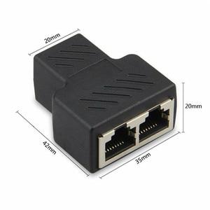 Image 4 - 1 PCS RJ45 ספליטר מתאם 1 עד 2 יציאות נקבה יציאת LAN Ethernet רשת ספליטר מתאם עבור מחשב מחבר
