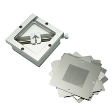 Silver BGA reballing kit 90*90mm 90x90mm BGA reballing station HT-90 with 10 PCS BGA Universal Stencil цена