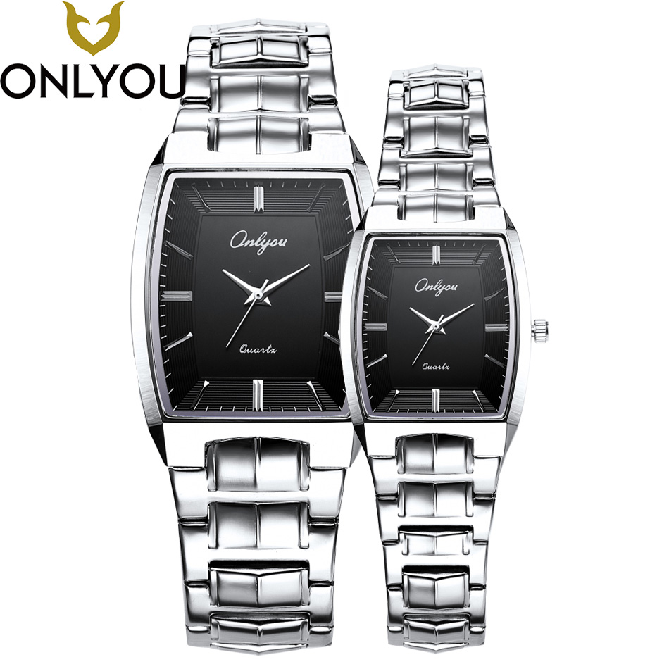 ONLYOU Luxury Brand Analog Display Date Men's Quartz Watch Casual Business Watches Men Stainless Steel Wristwatches Waterproof skmei luxury brand stainless steel strap analog display date moon phase men s quartz watch casual watch waterproof men watches
