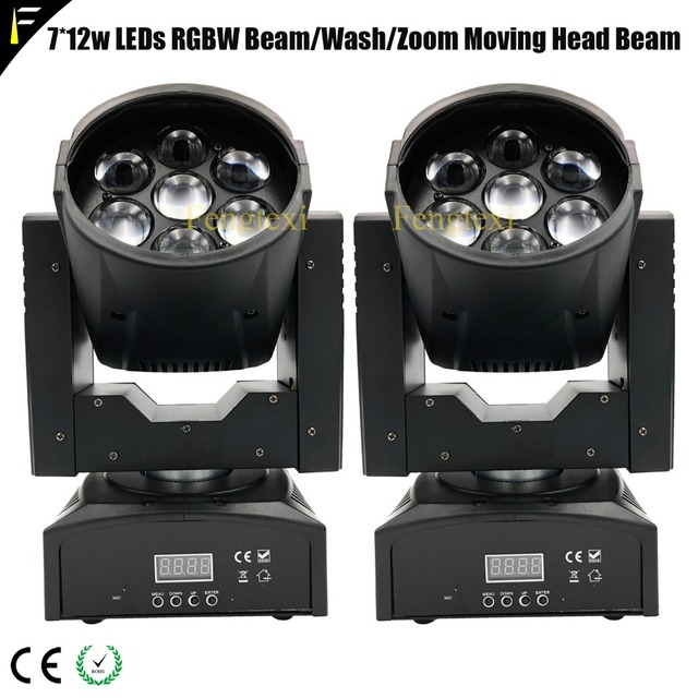 Dimmable Zoom Moving Head Light Washer 7x10W PAN/TILT 540/190 Led Moving Head Zoom Beam For Standard Stage TV Trade Show Cinema