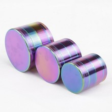 1 Pc 4 Size Cool Colourful Metal Zinc alloy Grinder Tobacco Smoking Cigarette Crusher Spice Muller Pipe Accessories Herb Grinder