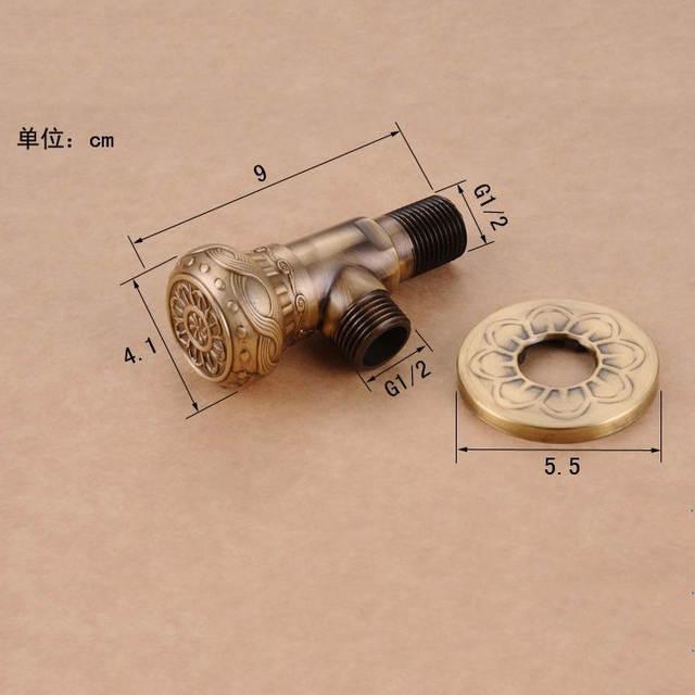 Online Shop Faucet Replacement Parts 1 2 X 1 2 Antique Brass Angle