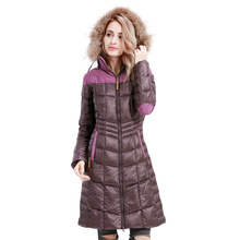 ROYALWAY Womens Winter White Goose Down Jackets Coats High Quality Warm Female thickening Parka Hood Over Coat#RFDL4341E
