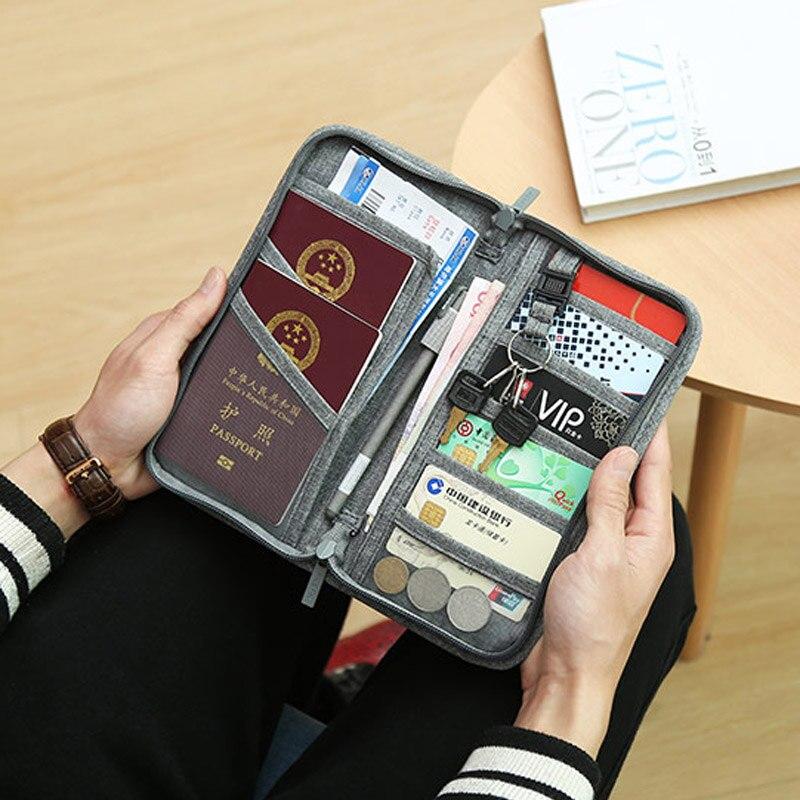 Travel Passport Cover Multifunction Wallet Document Organizer Cover Men Women Business ID Card Holder Case Wrist Strap PC0047 (19)