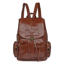 Backpack Women Cow Leather Vintage Fashion Travel Brand School Book Small Backpacks Woman Casual Business Backpack Bags Female цена и фото